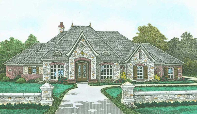 Front of Home -  036D-0222   House Plans and More