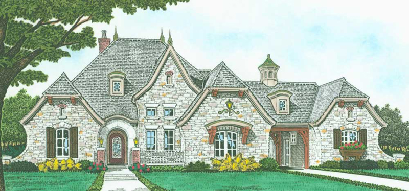 Front of Home -  036D-0223 | House Plans and More
