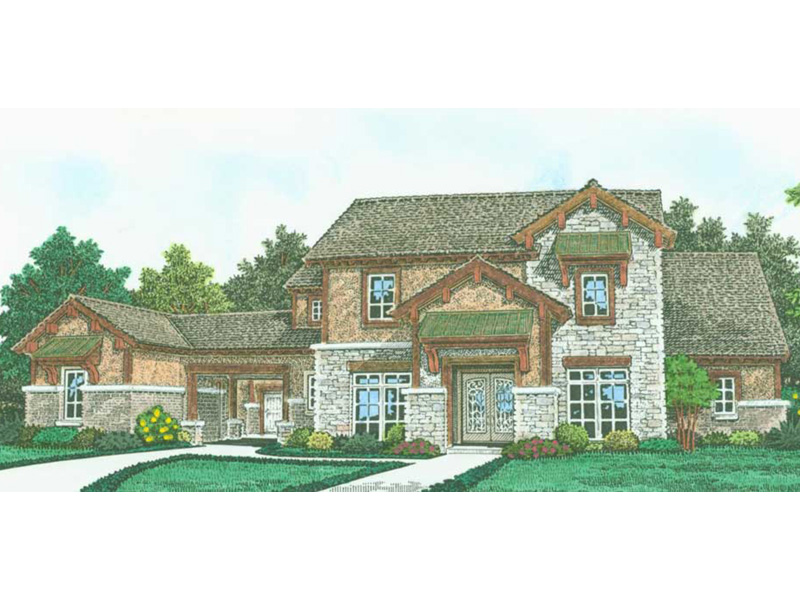 Mountain Home Plan Front Image - 036D-0242 | House Plans and More
