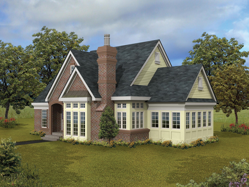 Lake House Plan Front Photo 01 - Darbytown English Cottage Home 037D-0002   House Plans and More