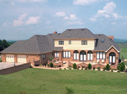 luxury house plan with rear entry garage