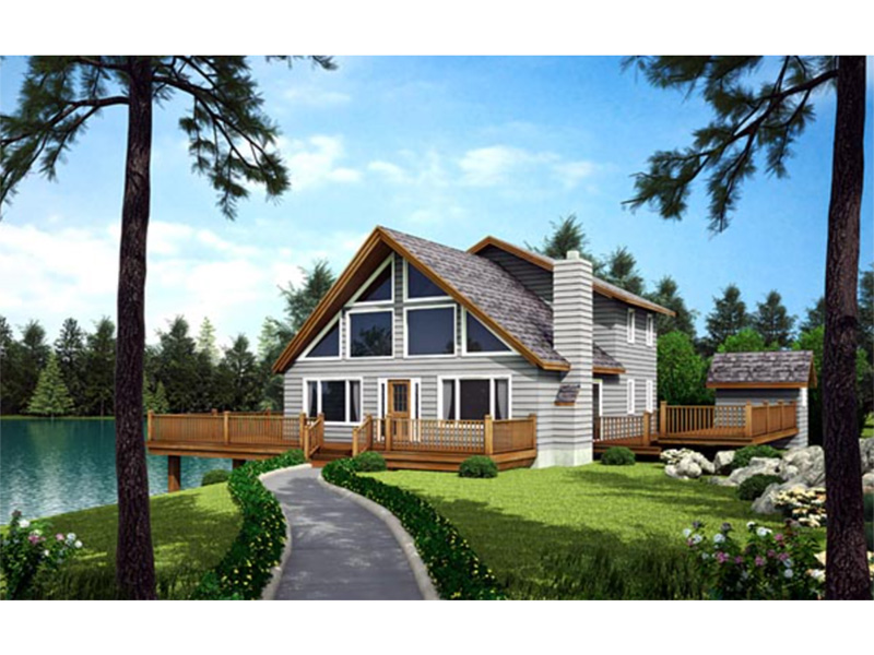 Rustic Home Plan Front Photo 01 - Grove Park A-Frame Home 038D-0002 | House Plans and More