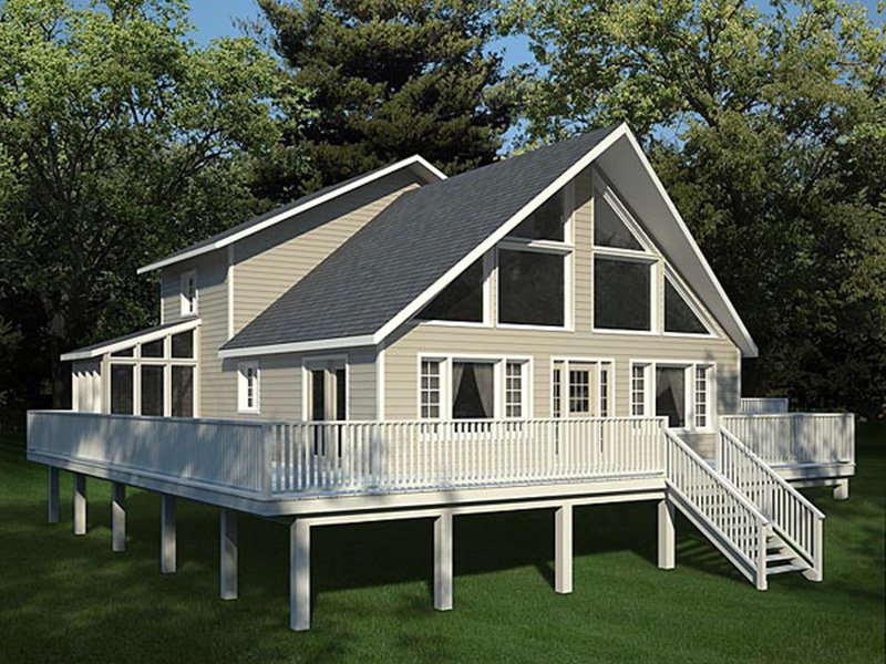 Rustic Home Plan Front Photo 02 - Grove Park A-Frame Home 038D-0002 | House Plans and More