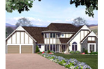 Victorian House Plan Front Image - Eastview Traditional Home 038D-0004 | House Plans and More