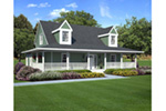 Farmhouse Plan Front Photo 01 - Naylor Country Farmhouse 038D-0007 | House Plans and More