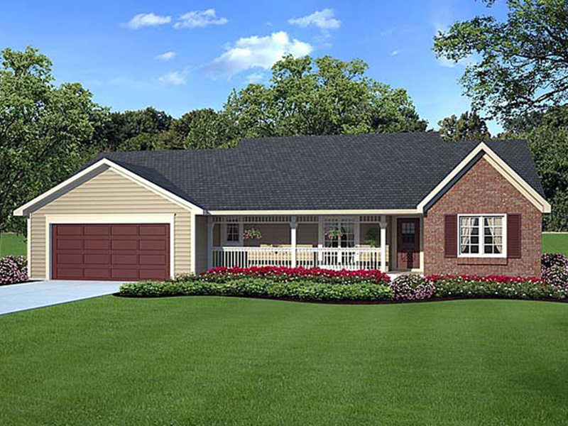 Country House Plan Front Image - Doxies Creek Ranch Home 038D-0012 | House Plans and More