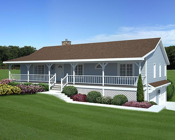 Country Acadian Home With Deep Front Porch