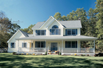 Traditional Southern Home, Symmetrical In Design
