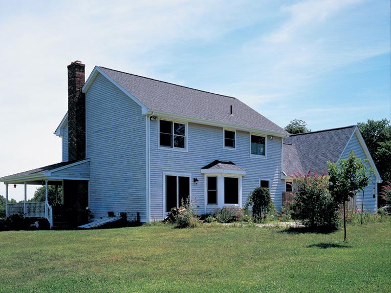Farmhouse Plan Rear Photo 01 - Wembury Country Farmhouse House Plans | Farmhouse Home Plans