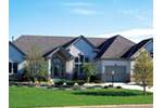 Ranch House Plan Front Photo 01 - Oxview Sunbelt Ranch Home 038D-0046 | House Plans and More