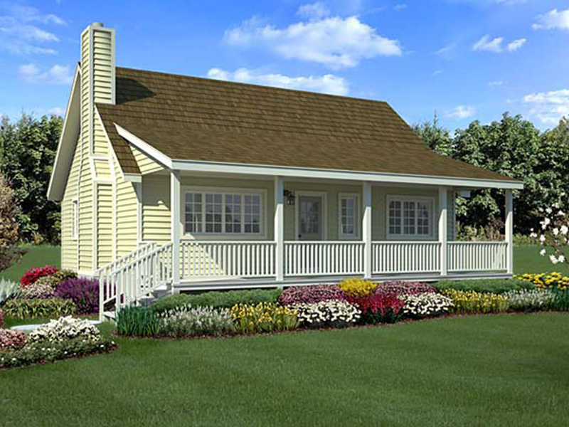 Vacation House Plan Front Photo 01 - Fairgreen Acadian Style Home 038D-0053 | House Plans and More