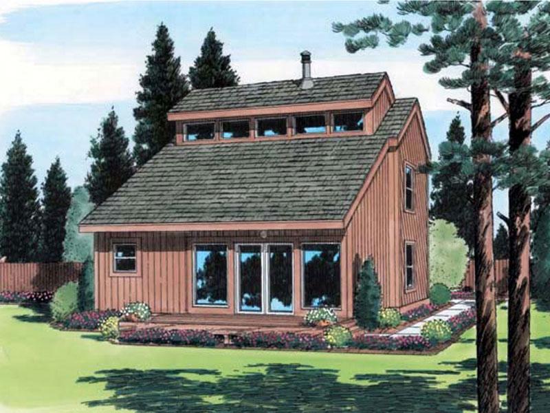 Esterbrook Modern Cabin Home Plan 038D-0481 | House Plans ...