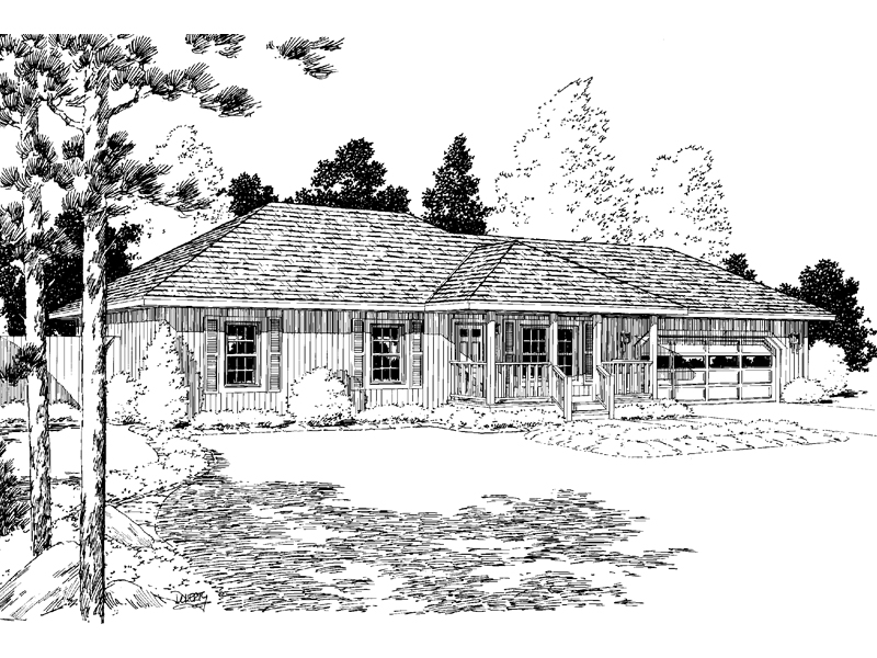 Spring Crest Ranch Home Plan 038D-0641 | House Plans and More on