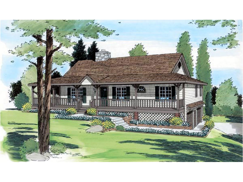 Beautiful Ranch With Wrap-Around Porch