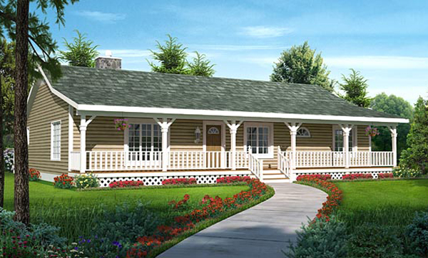 Country House Plan Front of Home - Vandenhaven Country Ranch Home 038D-0783 | House Plans and More