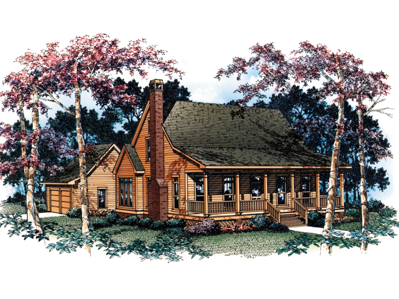 Traditional House Plan Front Image - Farmview Acadian Country Home 040D-0001 | House Plans and More