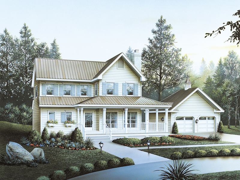 Country-Style With Wrap-Around Porch