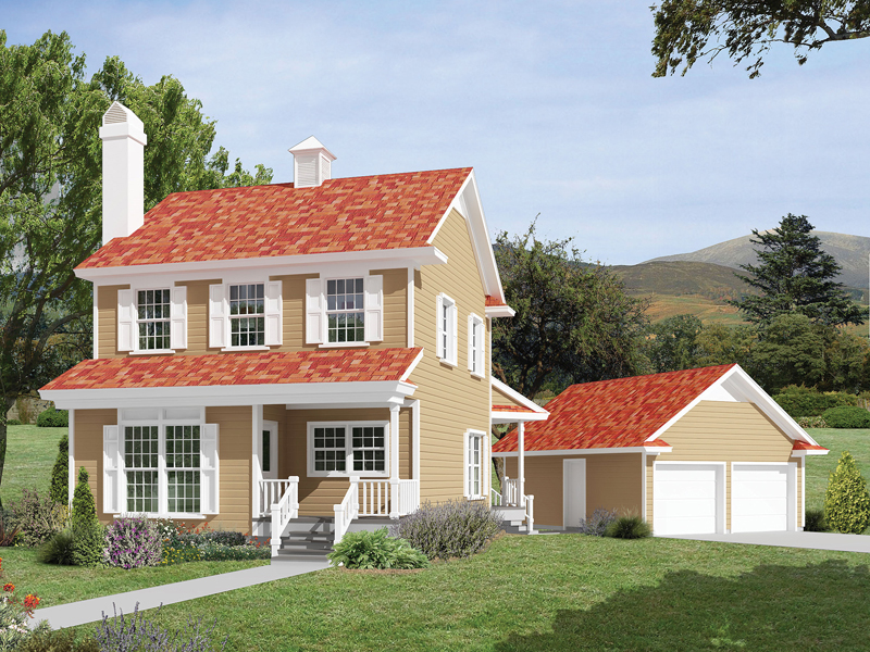 Cheerful Country Home With Favorable Façade