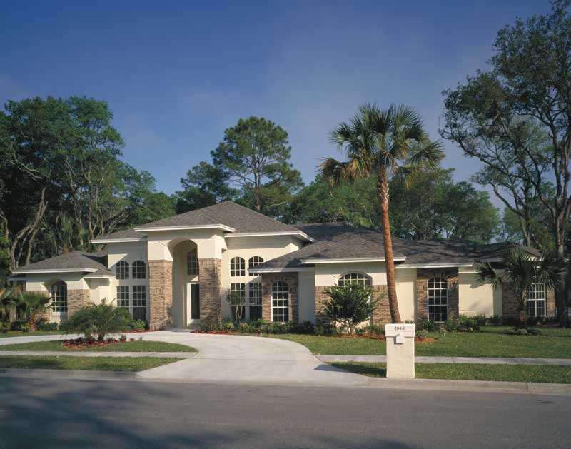 Italian House Plan Front Photo 01 - Palm Aire Adobe Style Home 047D-0046   House Plans and More