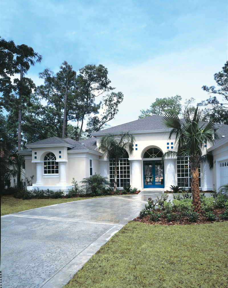 Spanish House Plan Front Photo 01 - Siesta Hill Florida Style Home 047D-0048 | House Plans and More