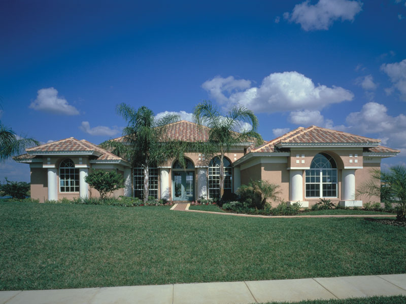 Spanish House Plan Front Photo 02 - Siesta Hill Florida Style Home 047D-0048 | House Plans and More
