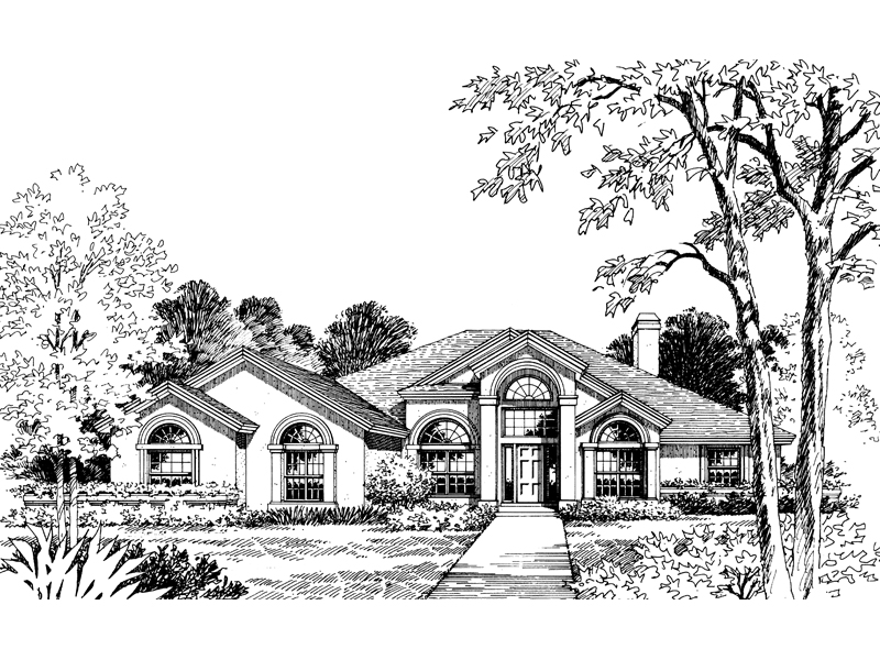 Tantalizing Design With Great Arched Windows And Mimic Arched Entry
