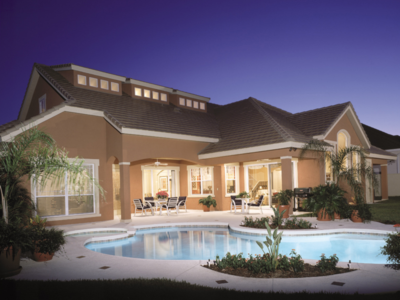 Sandpiper Luxury Sunbelt Home Plan 047D-0052 | House Plans ... on spanish house plans with pools, craftsman house plans with pools, modern home plans with pools, florida home plans with pools, mediterranean house plans with pools,