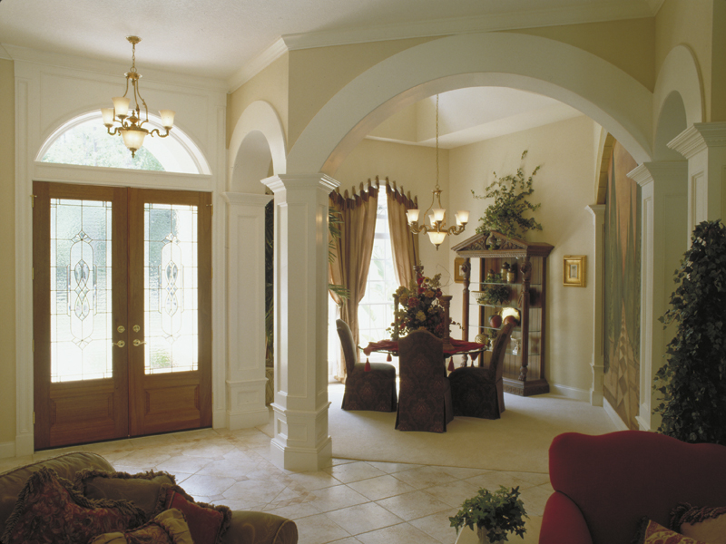 Spanish House Plan Dining Room Photo 02 - Juliana Luxury Home 047D-0056 | House Plans and More