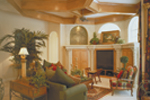 Spanish House Plan Family Room Photo 02 - Juliana Luxury Home 047D-0056 | House Plans and More