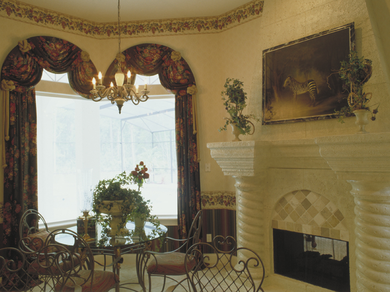 Spanish House Plan Fireplace Photo 01 - Juliana Luxury Home 047D-0056 | House Plans and More