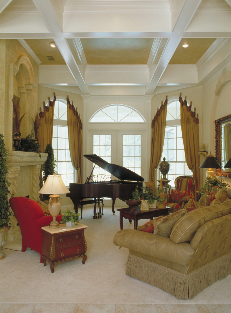 Spanish House Plan Living Room Photo 01 - Juliana Luxury Home 047D-0056 | House Plans and More