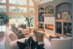 Country French House Plan Family Room Photo 01 - Lawton Place European Home 047D-0058   House Plans and More