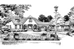 Country French House Plan Front Image of House - Lawton Place European Home 047D-0058   House Plans and More
