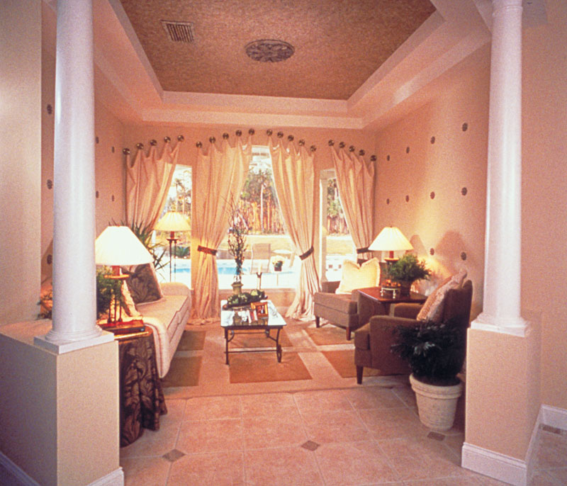 Country French House Plan Living Room Photo 01 - Lawton Place European Home 047D-0058   House Plans and More
