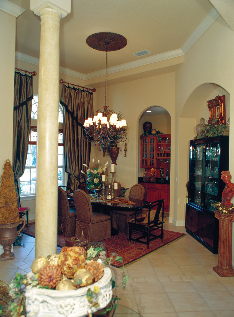 Florida House Plan Dining Room Photo 01 - Corvina Mediterranean Home 047D-0064 | House Plans and More