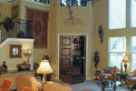 Luxury House Plan Family Room Photo 02 - Corvina Mediterranean Home 047D-0064 | House Plans and More