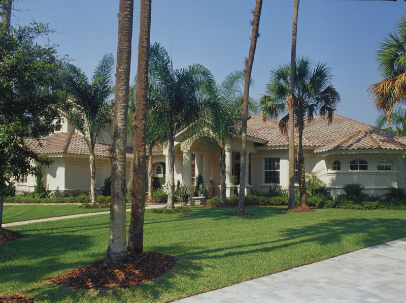 Florida House Plan Front Photo 01 - Corvina Mediterranean Home 047D-0064 | House Plans and More