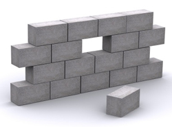 example of concrete block style walls