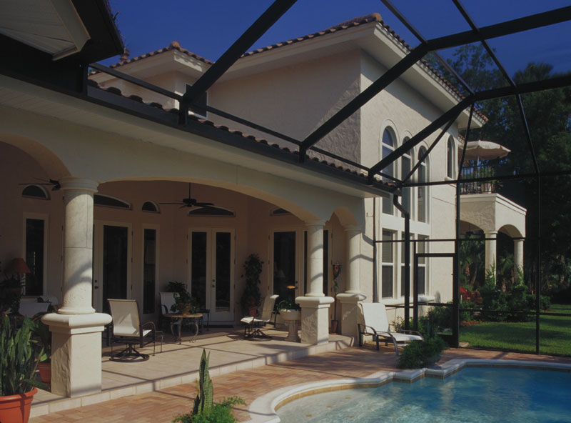 Luxury House Plan Outdoor Living Photo 01 - Corvina Mediterranean Home 047D-0064 | House Plans and More