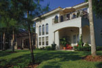 Luxury House Plan Rear Photo 01 - Corvina Mediterranean Home 047D-0064 | House Plans and More