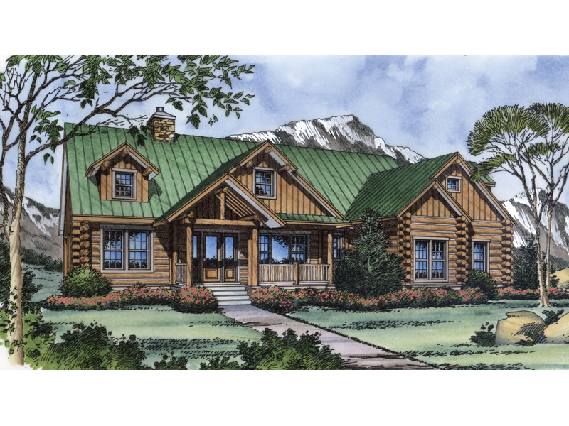 Lochmoor Trail Rustic Log Home Plan 047D-0078 | House Plans ...