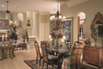 Open formal dining room creates memories.