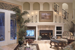 Contemporary House Plan Family Room Photo 01 - Dorsey Park European Home 047D-0083   House Plans and More