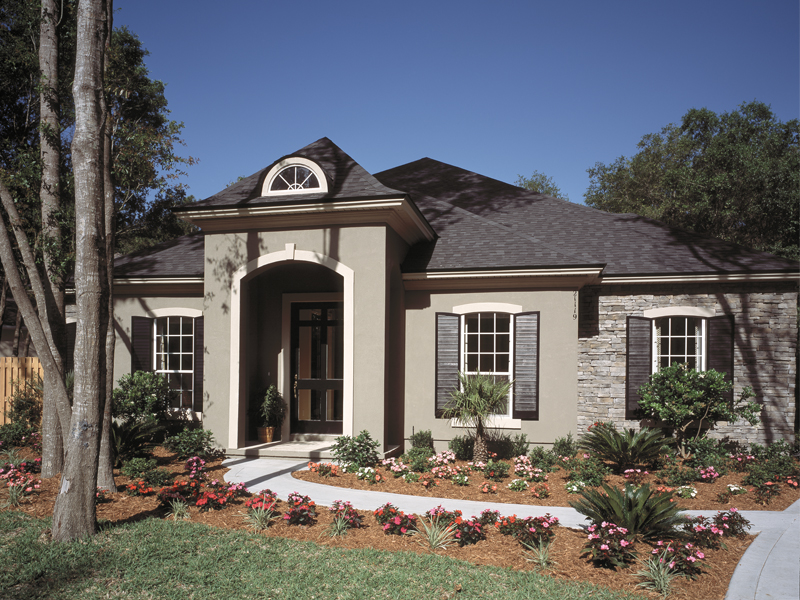 Contemporary House Plan Front Photo 02 - Dorsey Park European Home 047D-0083   House Plans and More