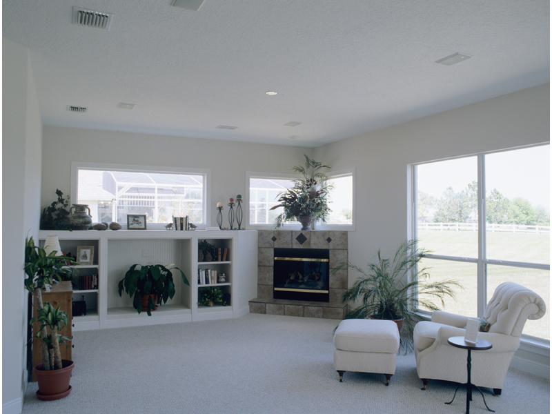 Traditional House Plan Family Room Photo 01 - Palmetto Bay Sunbelt Home 047D-0146 | House Plans and More