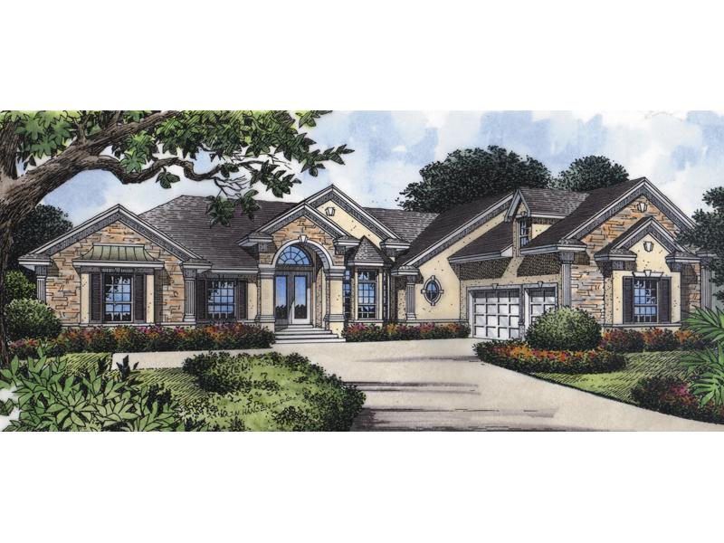 Subtle European Style Graces This Ranch Design