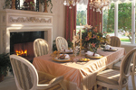 Luxury House Plan Dining Room Photo 01 - Grove City French Country Home 047D-0187 | House Plans and More