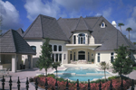 Mediterranean House Plan Rear Photo 01 - Grove City French Country Home 047D-0187 | House Plans and More