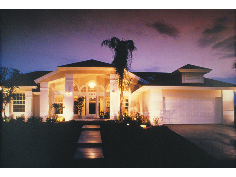 Stunning Stucco Home With Open Floridian Appeal