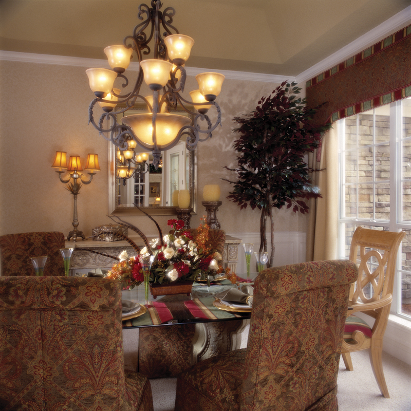 Sunbelt Home Plan Dining Room Photo 01 - Lakeport Luxury Home 047D-0211 | House Plans and More